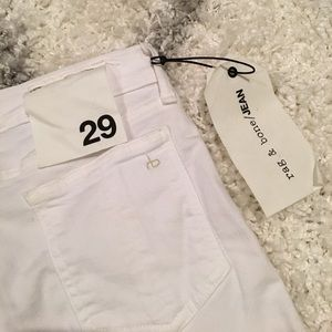 NEW WITH TAGS Rag & Bone white skinny jeans